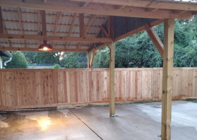 Cedar Privacy Fence Installation Austin TX