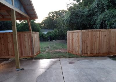Cedar Privacy Fence Steiner Ranch Austin TX
