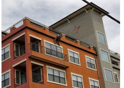 high rise apartment commercial gutter installation in Texas